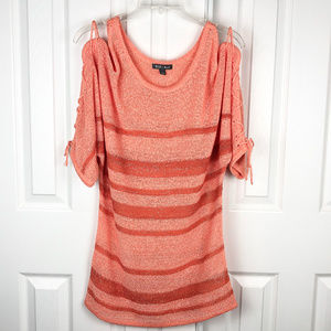 Roz & Ali Lightweight Pullover Sweater Size L